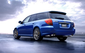 Picture sport, subaru, blue, sti, wagon, tuned