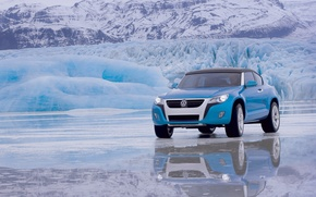 Picture mountains, reflection, ice, Volkswagen, Concept A