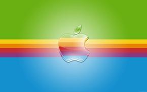 Picture strip, Apple, rainbow, logo