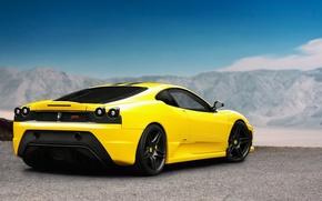 Picture tuning, F430, Ferrari, Ferrari, yellow, Scuderia