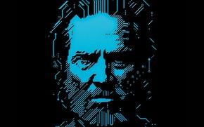 Picture beard, tron, TRON: Legacy, Jeff Bridges, Jeff Bridges
