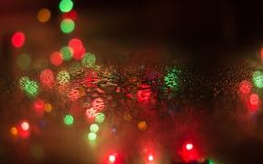 Wallpaper bokeh, new year, drops