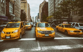 Picture Manhattan, New York City, street, Taxi
