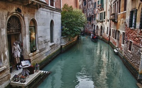 Picture building, home, Italy, Venice, channel, Italy, gondola, street, street, Venice, Italia, Venice, canal