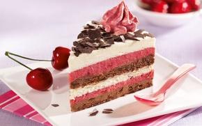 Picture food, chocolate, cake, cake, cake, cream, dessert, food, cherry, sweet, chocolate, cream, dessert, cherries