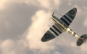 """Picture graphics, fighter, art, the plane, English, Supermarine Spitfire, WW2, Supermarine """"Spitfire"""""""