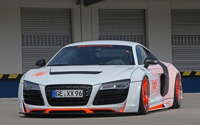 Picture Audi, Orange, wheels, White, XXX Performance, r8