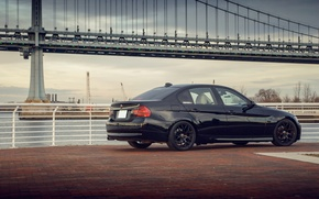 Picture bridge, black, BMW, BMW, black, 328i, E90, The 3 series