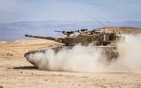 "Picture sand, desert, tank, combat, main, Merkava, Israel, ""Merkava"""