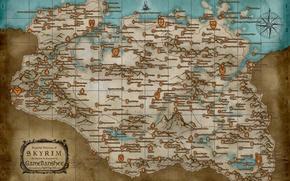 Picture map, the elder scrolls, skyrim, Skyrim, tes