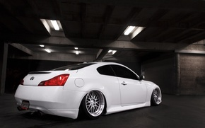 Picture Infiniti, white, rear, stance, G35