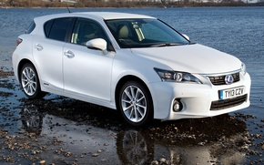 Picture white, Wallpaper, Lexus, car, 200h