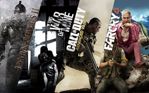 Picture Call of Duty, Dragon Age, Far Cry 4, this war of mine