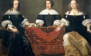 Picture portrait, picture, Ferdinand Bol, Three Of The Regent
