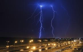 Picture the storm, autumn, night, lights, rain, lightning, The city, beautiful, inspiration, 2015, 2016, 2017