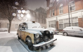 Picture cold, winter, frost, machine, white, light, snow, trees, machine, snowflakes, city, tree, bmw, England, home, ...