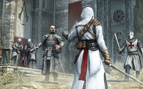 Wallpaper fortress, Altair, the Templars, Revelations, Assassin`s Creed