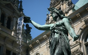 Wallpaper Germany, water, fountain, statue