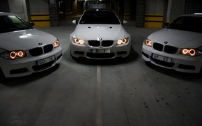Wallpaper Lights, Garage, BMW, White