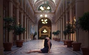 Picture girl, dance, chandeliers, Gemma Vassallo