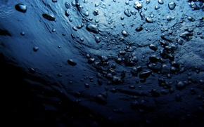 Wallpaper depth, nature, bubbles, the bottom, sea, wave, water, abyss, the ocean, blue, drops