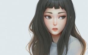 Picture girl, woman, beautiful, pretty, face, brunette, asian, japanese, waifu