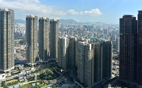 Picture Home, Hong Kong, The city, Skyscrapers, China