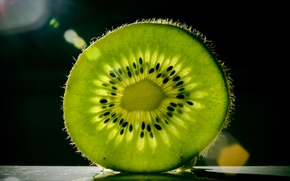 Picture macro, green, kiwi, fruit