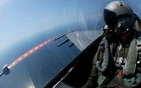 Picture height, rocket, fighter, pilot, start