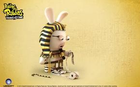 Picture rabbit, Pharaoh, Egypt, Raving Rabbids Travel in Time
