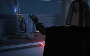 Picture animated series, Star wars: Rebels, Star Wars: Rebels, Ezra, Vader