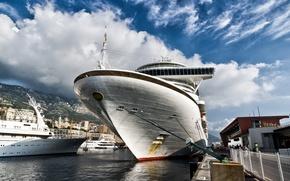 Picture water, ship, ships, pier, port, Monte Carlo, Monte Carlo