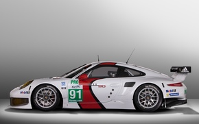 Picture background, view, 911, Porsche, side, RSR, racing car