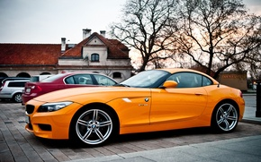 Picture BMW, Orange, the beauty, drives
