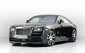 Picture Rolls-Royce, white background, rolls-Royce, Wraith, Wright, Spofec