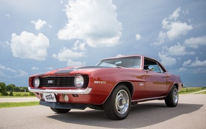 Picture Chevrolet, 1969, Camaro, red