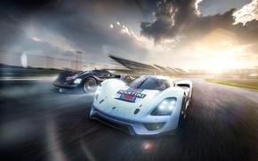 Picture Porsche, Car, Vision, Front, Racing, Martini