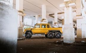 Picture mercedes, mercedes-benz, Golden, MB G63 6x6 AMG