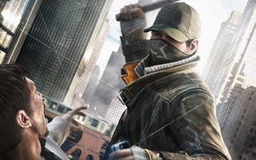 Picture the city, home, blow, cap, stroke, Ubisoft, stick, WATCH DOGS