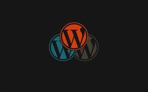 Picture color, round, emblem, letter