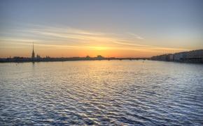 Picture the sky, river, dawn, Saint Petersburg, Neva