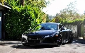 Picture road, Audi, audi, black, tuning, supercar