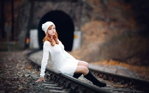 Picture legs, the beauty, redhead, Melis