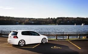 Picture white, white, Golf, golf, Volkswagen, Volksvagen, mk5