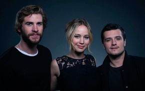 Picture Jennifer Lawrence, The hunger games, The Hunger Games, Josh Hutcherson, Liam Hemsworth, the main role