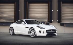 Picture white, jaguar, coupe, f-type
