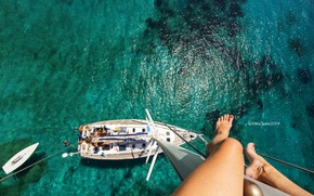 Picture sea, summer, photo, height, yacht