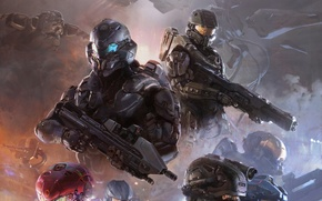 Wallpaper weapons, ship, Microsoft, team, helmet, armor, Locke, The Master Chief, Locke, Chief, Halo 5: Guardians, ...