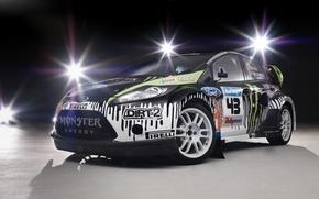 Picture light, lamp, monster, ford, ken block, Ford, dirt 2, monster, rally, Fiesta, fiesta, pirelli, world …