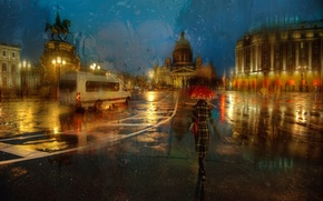 Picture autumn, rain, Saint Petersburg, November
